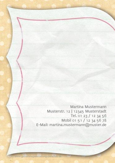 Ansicht 2 - Geburtstagskarte Gedichtebuch