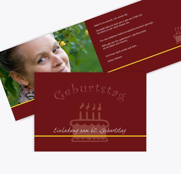Einladung colour-contrasting 60 Foto