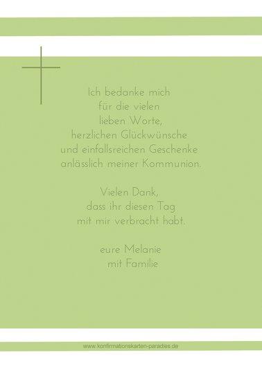 Ansicht 3 - Konfirmation Dankeskarte Kreuz