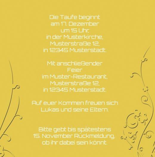 Ansicht 5 - Taufkarte Florale Schnörkel 2