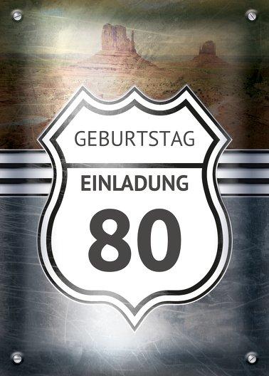 Ansicht 2 - Geburtstagseinladung Route 80