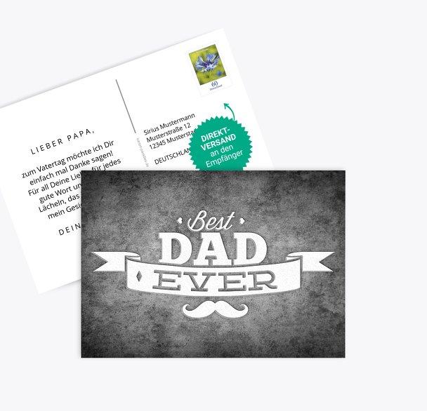 Vatertagskarte Schnurrbart