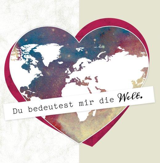 Ansicht 3 - Valentinskarte Meine Welt