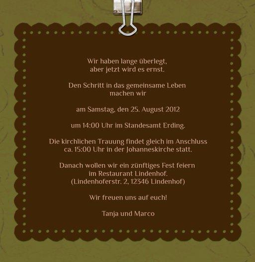 Ansicht 6 - Hochzeit Einladung Liebesnachricht