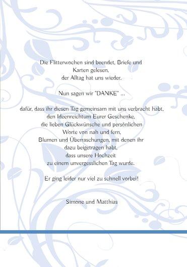 Ansicht 5 - Hochzeit Dankeskarte Blättertraum
