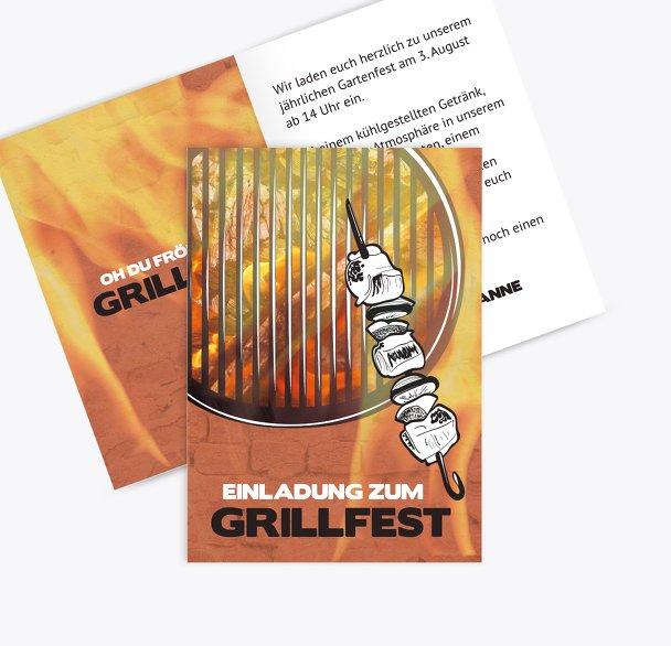 Einladung Sommerfest Grillzeit