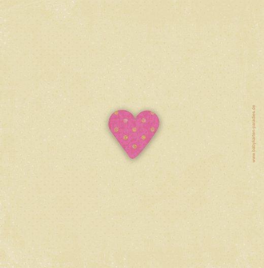 Ansicht 2 - Babykarte Herzform