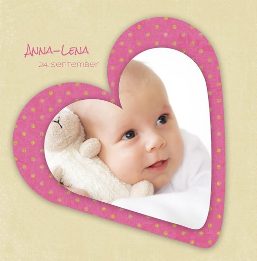 Ansicht 3 - Babykarte Herzform