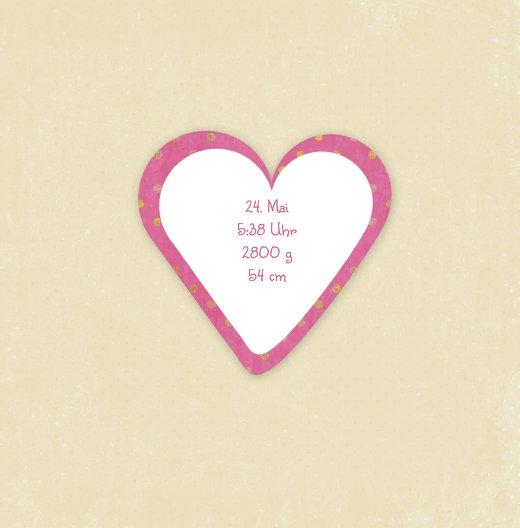 Ansicht 4 - Babykarte Herzform