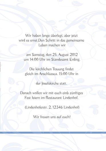 Ansicht 5 - Hochzeit Einladung Blättertraum