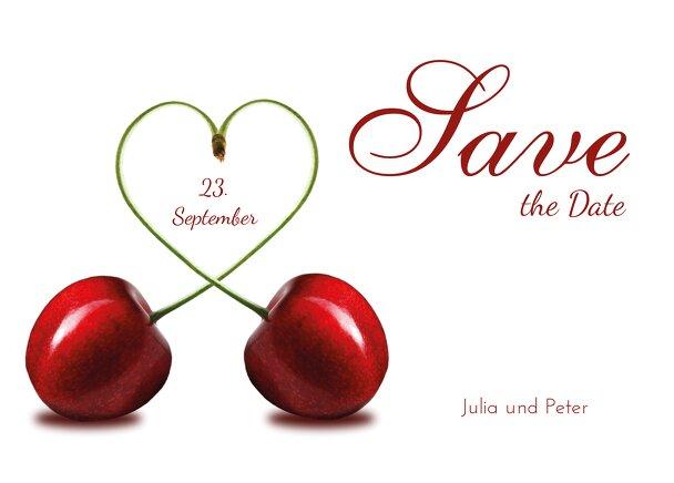 Ansicht 2 - Hochzeit Save-the-Date Kirsche