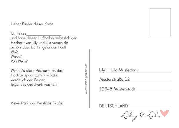 Ansicht 3 - Ballonkarte Pärchen - Frauen