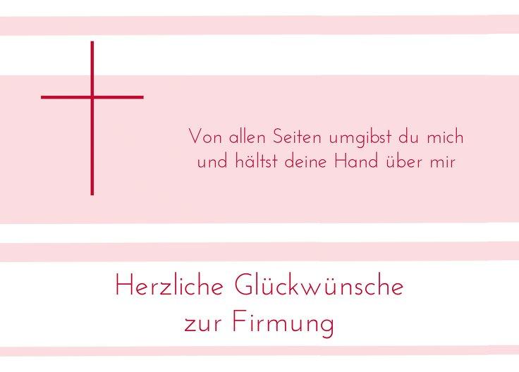Ansicht 2 - Glückwunschkarte zur Firmung Kreuz
