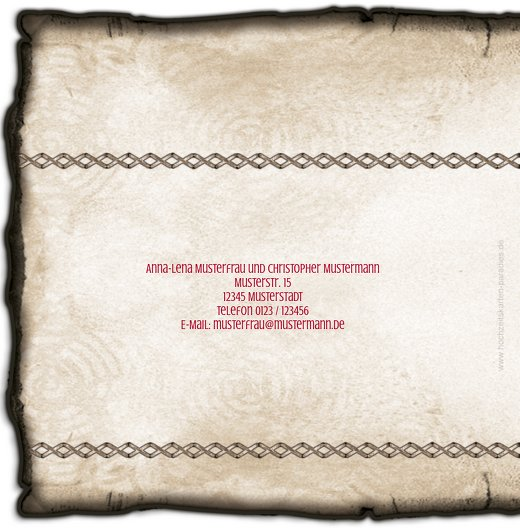 Ansicht 2 - Kontur Einladung Rustikal