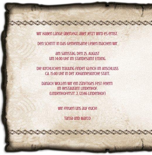 Ansicht 4 - Kontur Einladung Rustikal