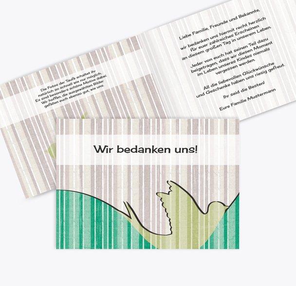 Dankeskarte Streifenharmonie