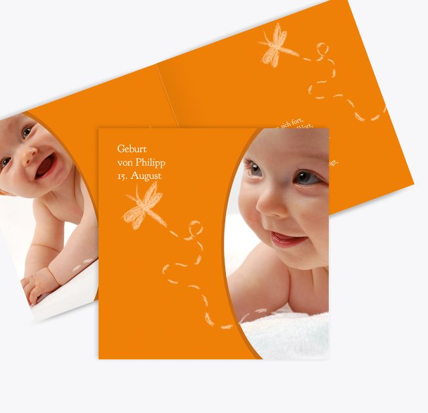 Geburtskarte Libelle