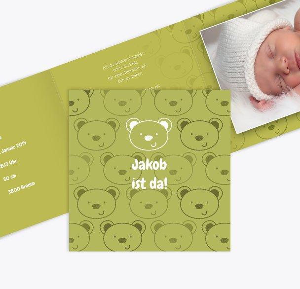 Geburtskarte Bärchen