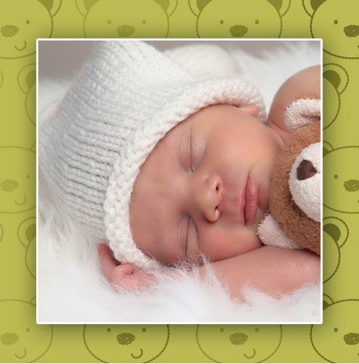 Ansicht 7 - Geburtskarte Bärchen