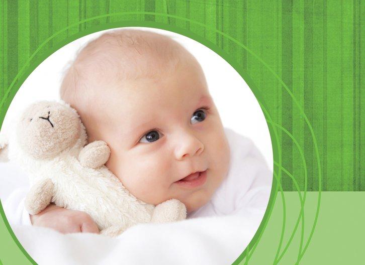 Ansicht 2 - Baby Dankeskarte Wollknäuel