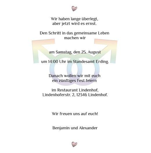 Ansicht 5 - Einladung Im Zeichen der Liebe - Männer