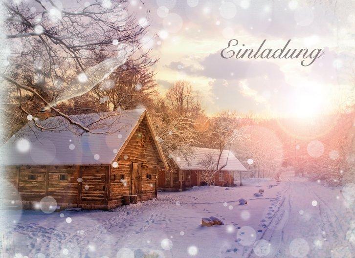 Ansicht 3 - Einladung Schneehütte
