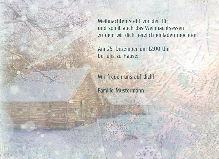 Ansicht 5 - Einladung Schneehütte