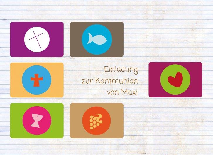 Ansicht 3 - Kommunionskarte buttons