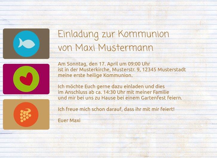 Ansicht 5 - Kommunionskarte buttons