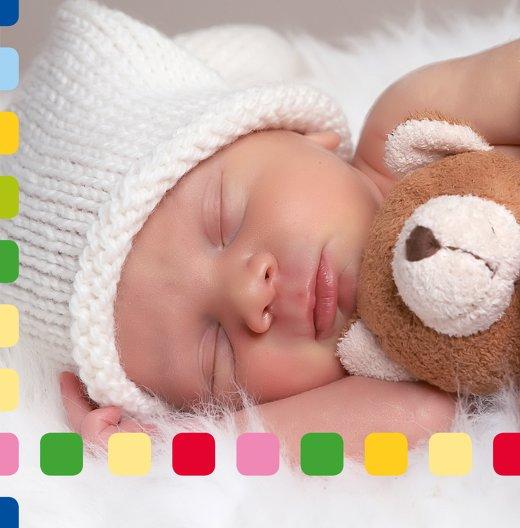 Ansicht 5 - Baby Dankeskarte Viereck