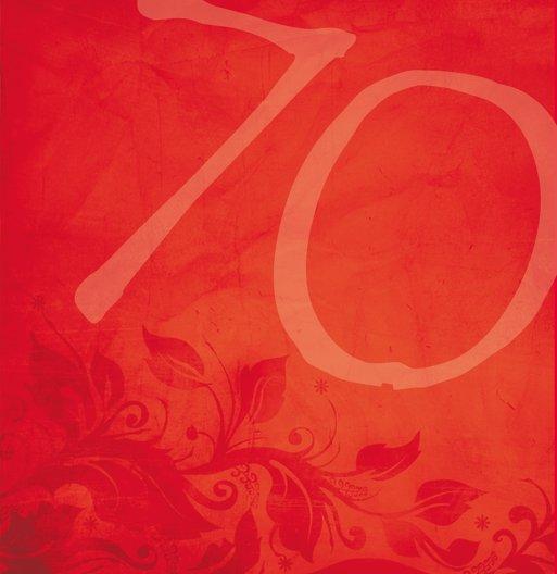 Ansicht 6 - Geburtstagskarte floral verspielt 70 Foto