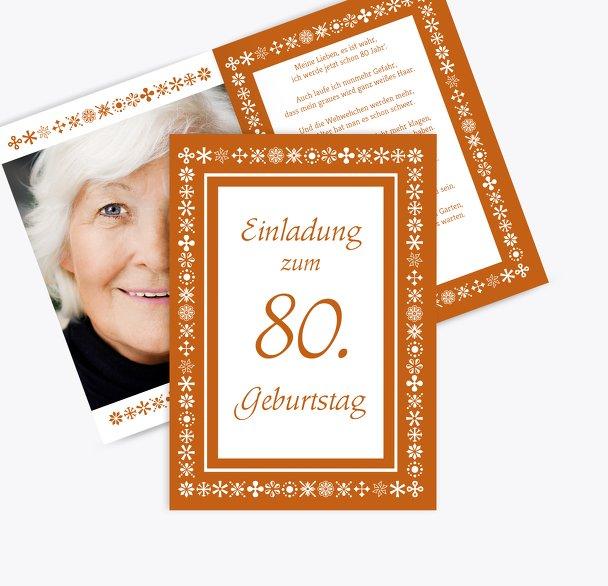 Einladungskarte florale Elemente 80 Foto