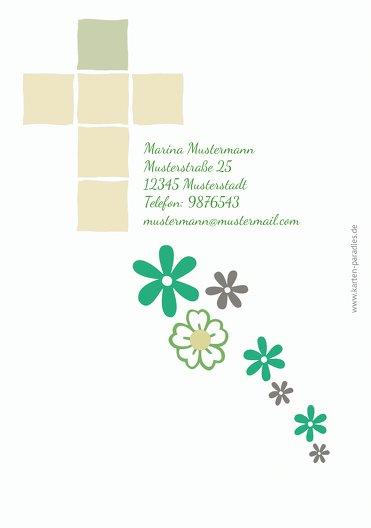 Ansicht 2 - Einladung Florales Kreuz