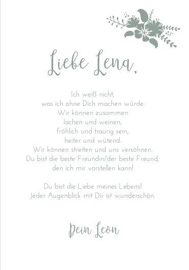 Ansicht 5 - Valentinskarte Blumenliebe