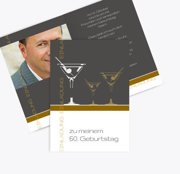 Einladungskarten Martini Foto