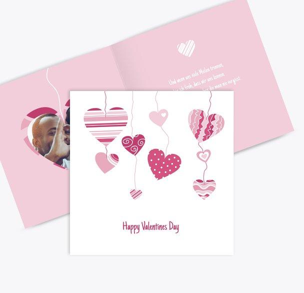 Valentinskarte Herzens Mobile