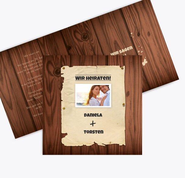 Hochzeit Einladungskarte Steckbrief