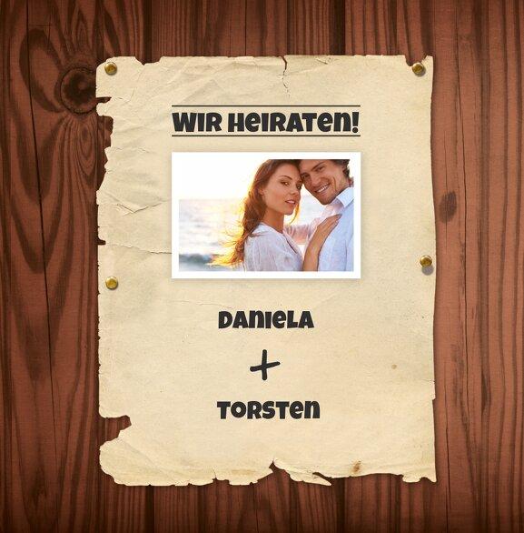 Ansicht 3 - Hochzeit Einladungskarte Steckbrief