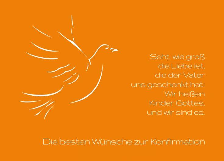 Ansicht 2 - Glückwunschkarte zur Konfirmation Pigeon