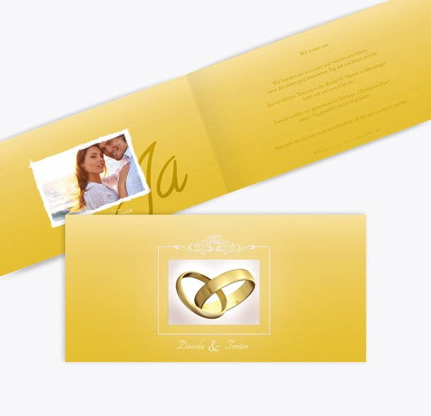 Hochzeit Einladung Din Ringetausch