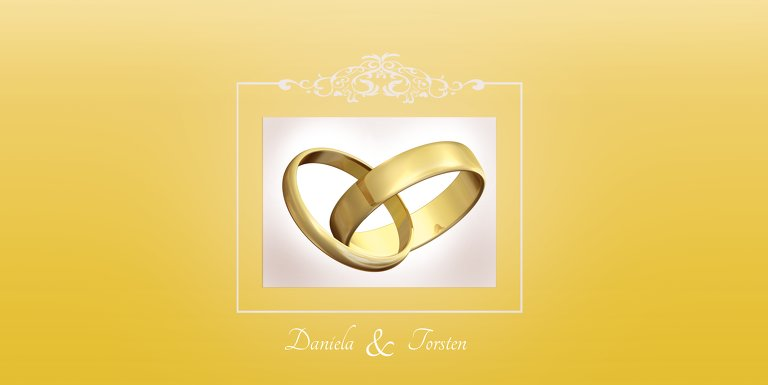 Ansicht 3 - Hochzeit Einladung Din Ringetausch