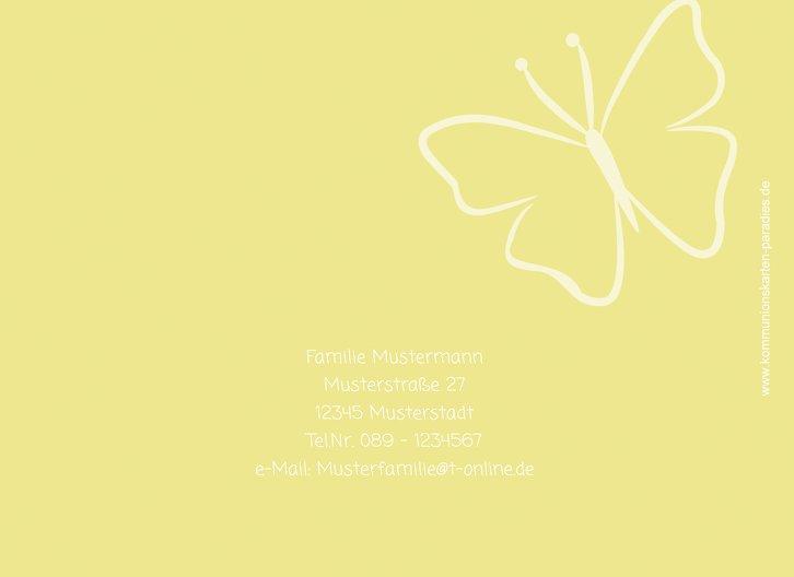 Ansicht 2 - Kommunion Danke Butterfly 2