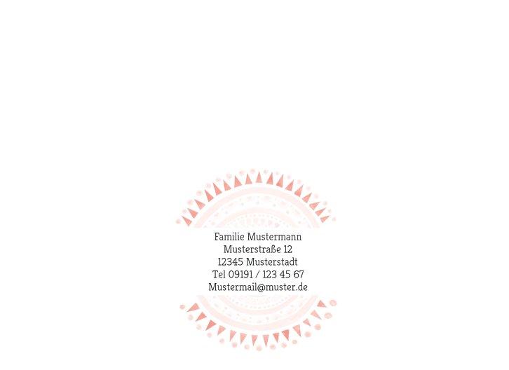 Ansicht 2 - Baby Dankeskarte Mandala