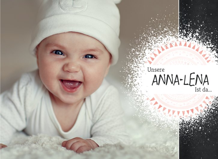 Ansicht 3 - Baby Dankeskarte Mandala