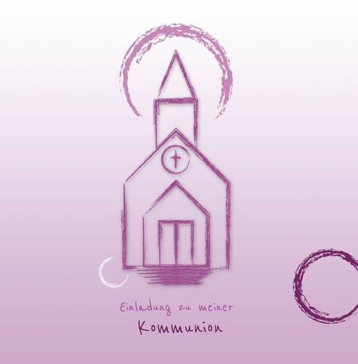 Ansicht 3 - Kommunionskarte Kirche