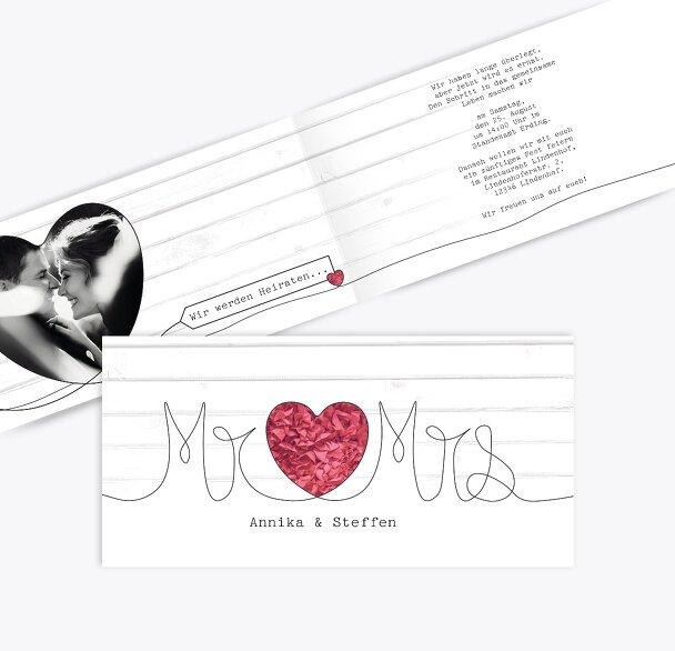 Hochzeit Einladung Mr&Mrs