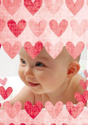 Ansicht 4 - Taufe Dankeskarte voller Herzen