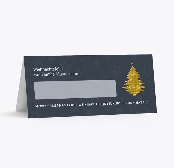 Tischkarte Baum