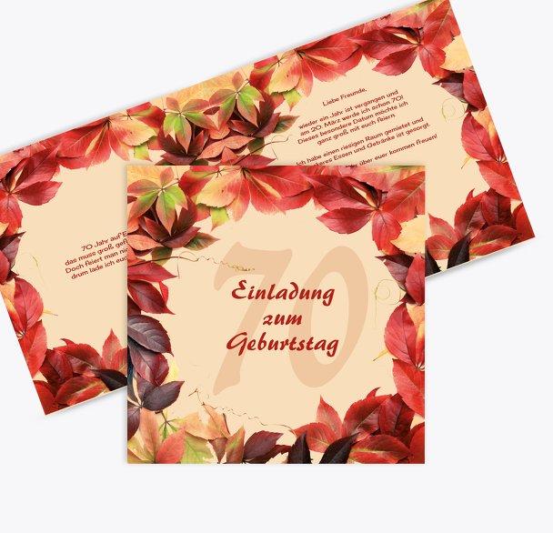 Einladungskarte Blumentraum 70