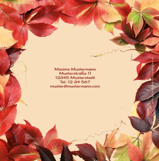 Ansicht 2 - Einladungskarte Blumentraum 70